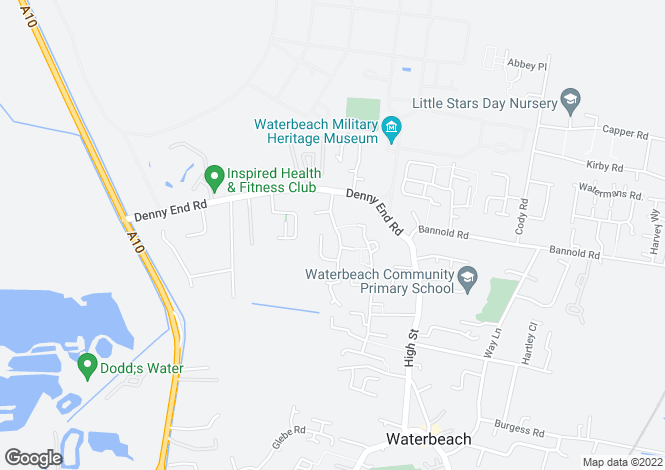 Map for Winfold Road, WATERBEACH