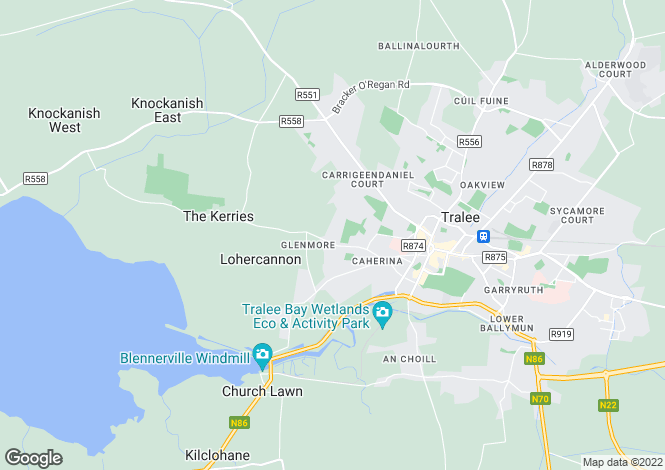 Map for 40 Fairway Heights, Tralee, County Kerry. V92 R3P9