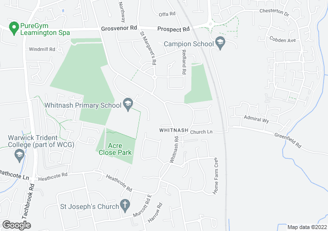 Map for Whitnash Road, Whitnash, LEAMINGTON SPA, Warwickshire