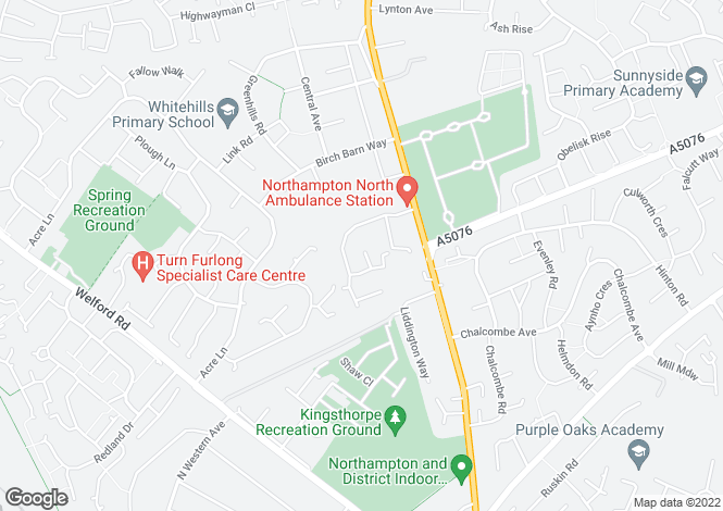 Map for Osler Close, Kingsthorpe, Northampton NN2 8NE