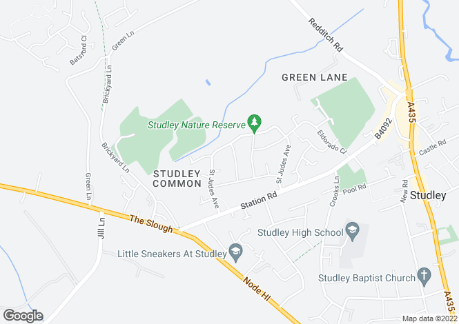 Map for ST. MARTINS AVENUE, STUDLEY, B80 7JJ