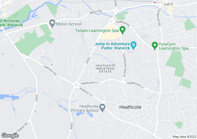 Map for Rigby Close,