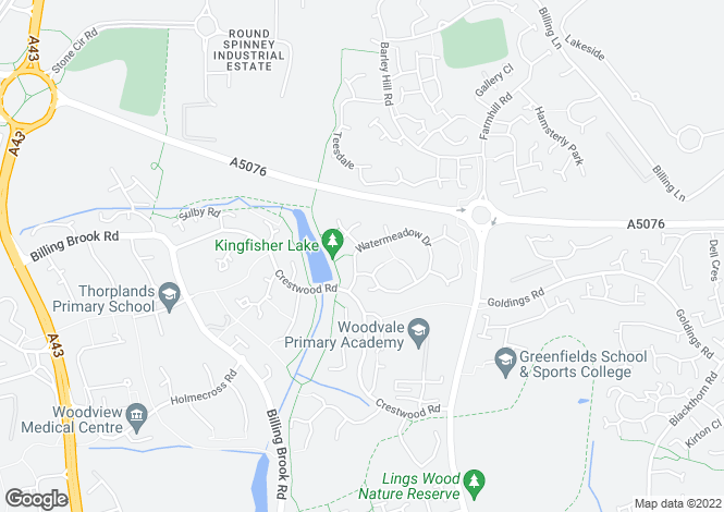 Map for Watermeadow Drive, Northampton