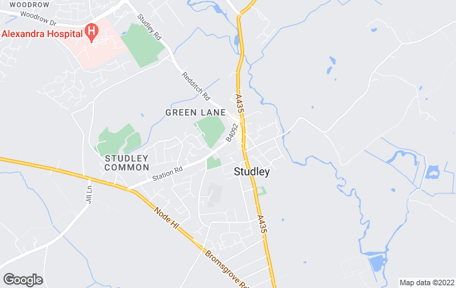 Map for Lamberts, Studley - Lettings