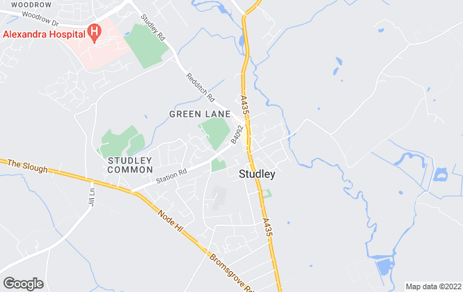Map for Lamberts, Studley