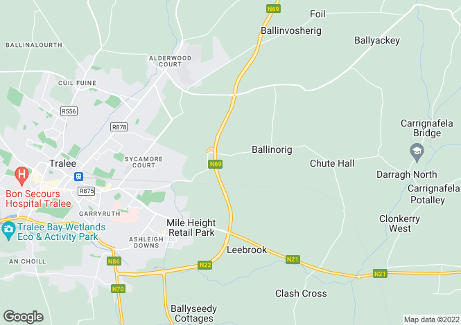 Map for 5  Beechfield, Ballinorig South, Tralee, Co.Kerry