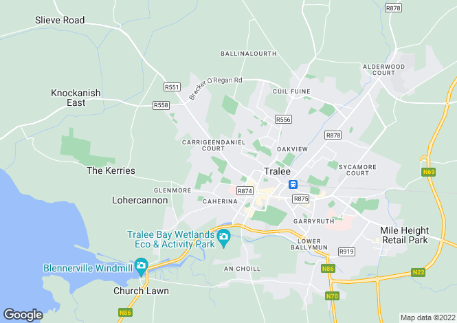 Map for Rose Cottage, Caherslee, Tralee, Co. Kerry V92 W9D7