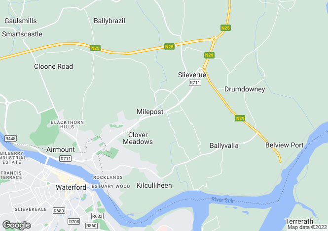 Map for Rathculliheen, Waterford
