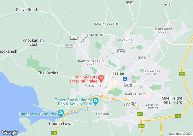 Map for Main Road, Caherslee, Tralee, Co.Kerry