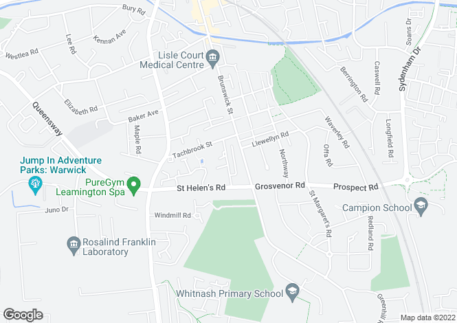 Map for Hitchman Court, Leamington Spa