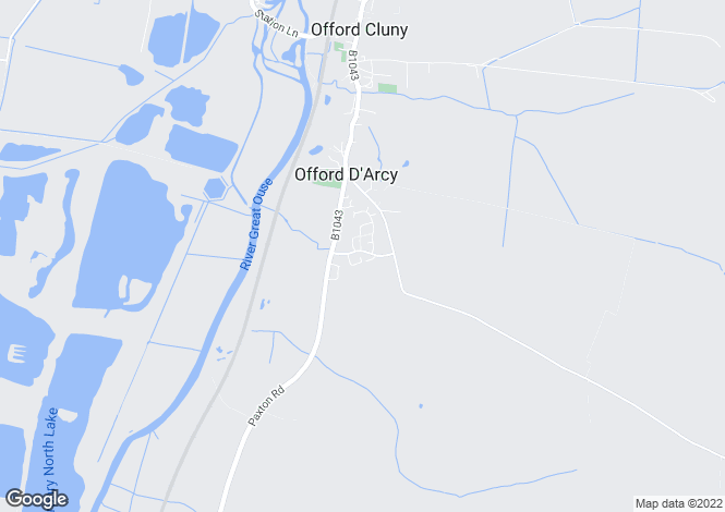 Map for Orchard Way, Offord D'arcy, ST NEOTS, Cambridgeshire