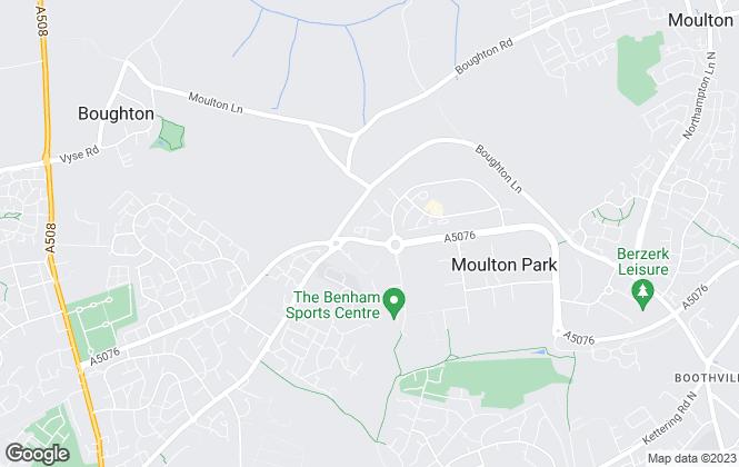 Map for Galbraith Estates, Northampton