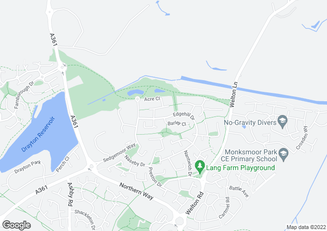 Map for Edgehill Drive, DAVENTRY, Northamptonshire