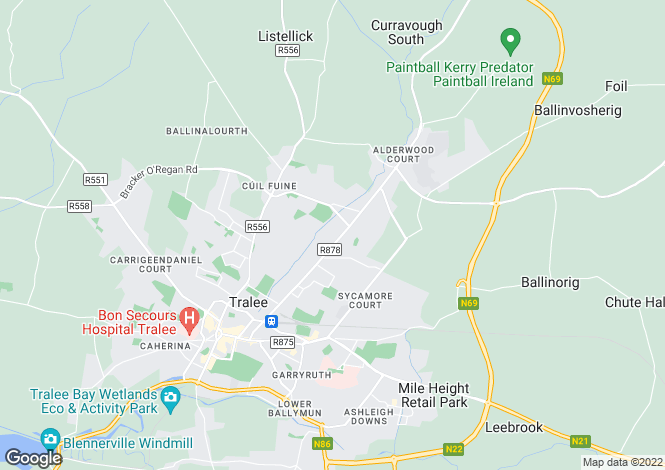 Map for Rosemont, Oakpark Road, Tralee, Co. Kerry V92 P273