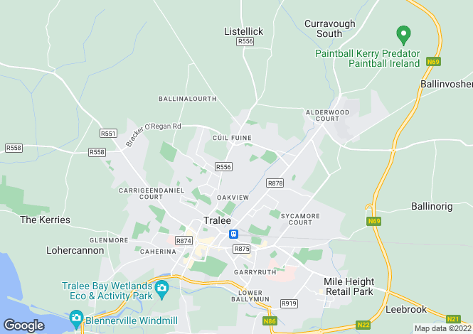 Map for 14 Monalee, Monavalley, Tralee, County Kerry. V92 F54K