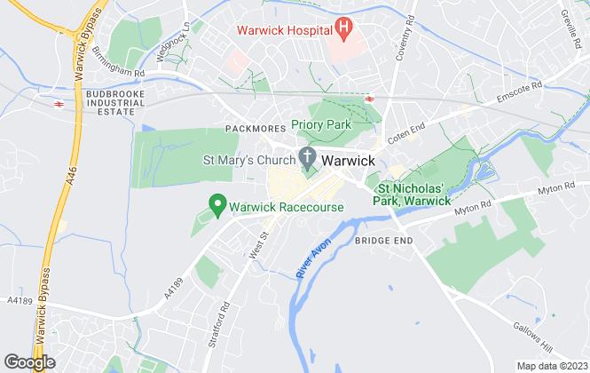 Map for Hawkesford, Warwick