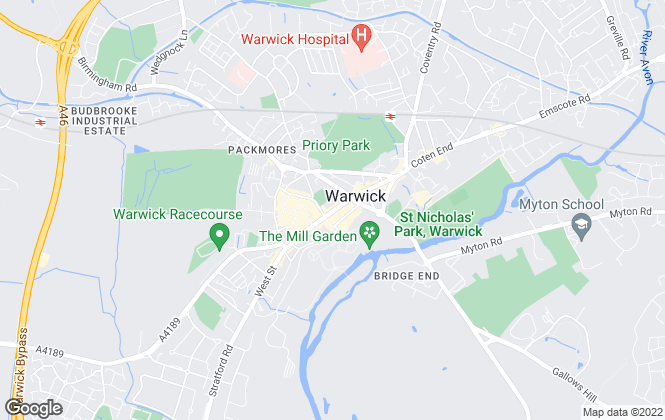 Map for Charles Rose, Warwick