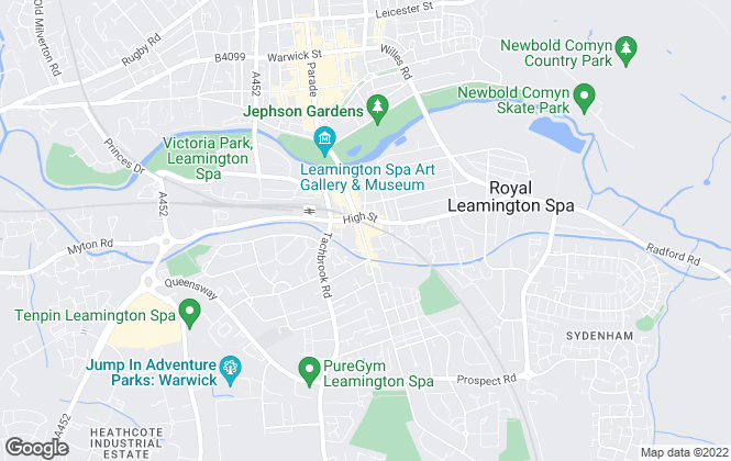 Map for Golden Key Estates, Leamington Spa