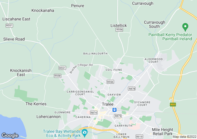 Map for 34, Unit 3, Monavalley Industrial Estate, Tralee, Co Kerry