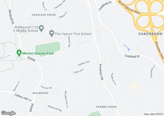 Map for Mason Road, Headless Cross