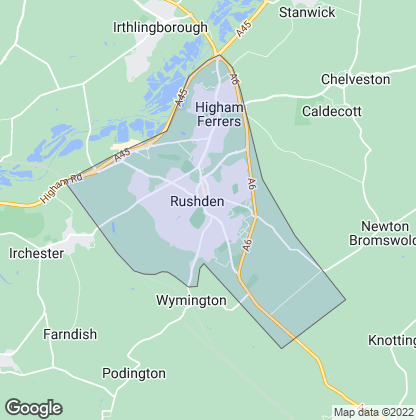 Map of property in Rushden
