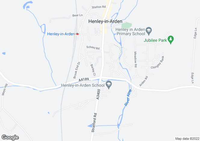 Map for de Montfort Court,Henley in Arden,Warwickshire,B95 5BL,UK