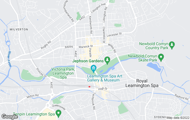 Map for Belvoir, Leamington Spa