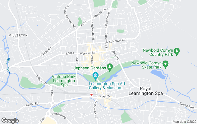 Map for Martin & Co, Leamington Spa - Lettings & Sales