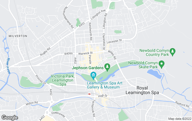Map for The Letting People, Leamington Spa