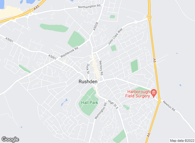 Map for William H. Brown, Rushden