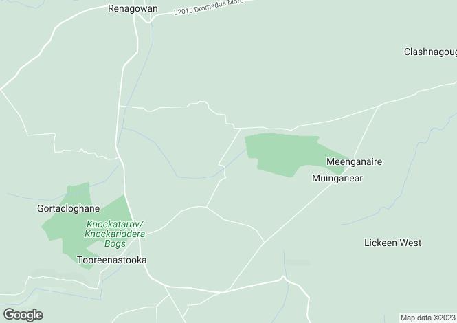Map for Knocknagashel, Kerry
