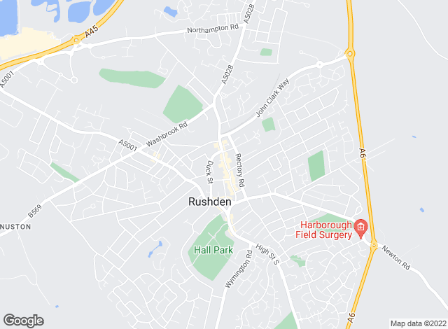 Map for Coley Thomson, Rushden