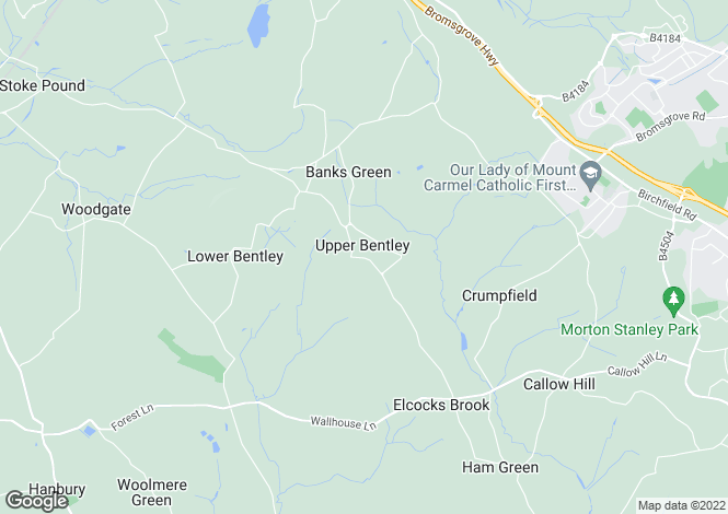 Map for Manor Road, Upper Bentley, Worcestershire, B97