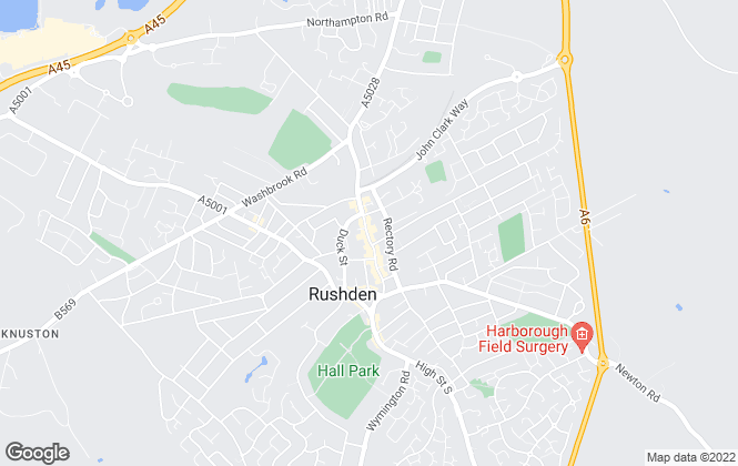 Map for Richard James Estate Agents, Rushden