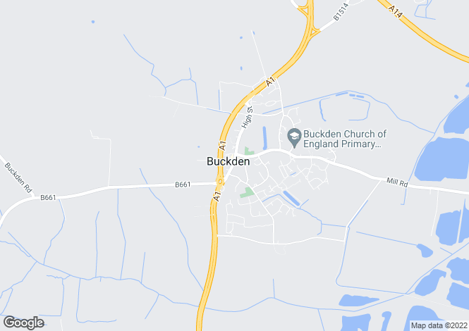 Map for BUCKDEN