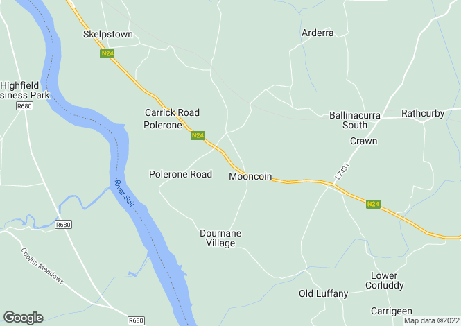 Map for The Manor House, Mooncoin, Kilkenny