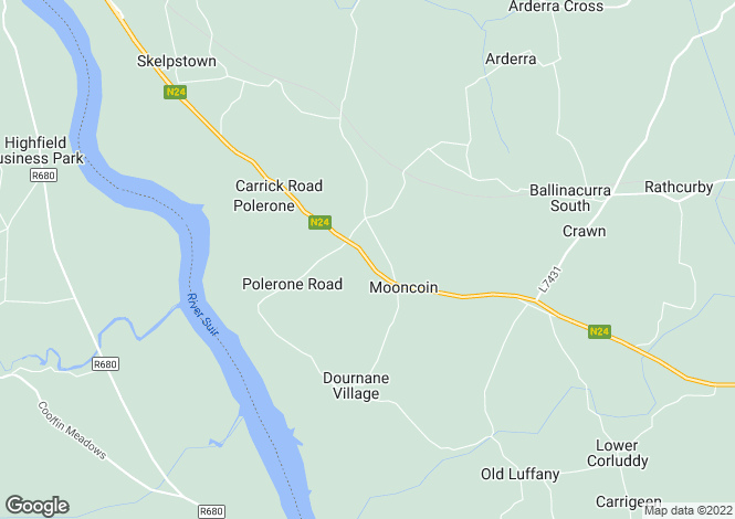 Map for The Thatched Cottage, Main Street, Mooncoin, Co. Kilkenny, X91 KF62