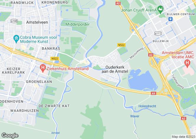 Map for Noord-Holland, Ouderkerk aan de Amstel