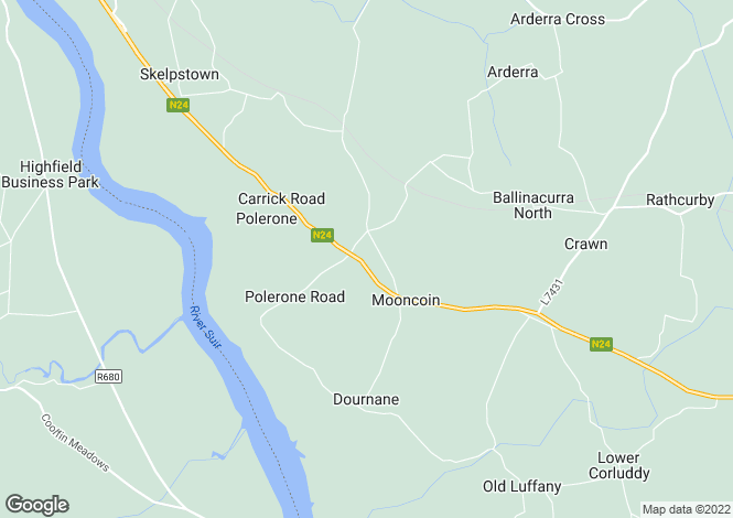 Map for Clannoi House, Ballybrazil, Mooncoin, Kilkenny