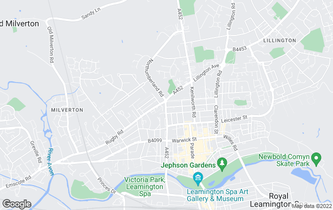 Map for Stephen Parry and Company Estate Agents, Leamington Spa
