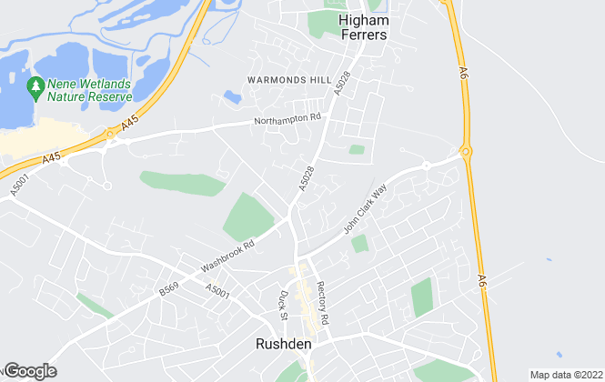 Map for Delamere Sales & Lettings, Northampton