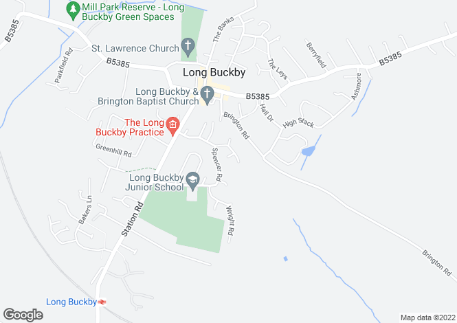 Map for Harry Close, Long Buckby, Northampton NN6 7YU