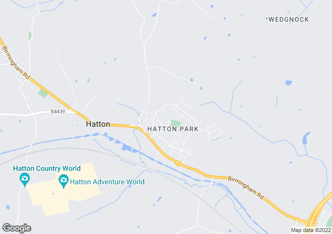 Map for Tredington Park, Hatton Park, Hatton