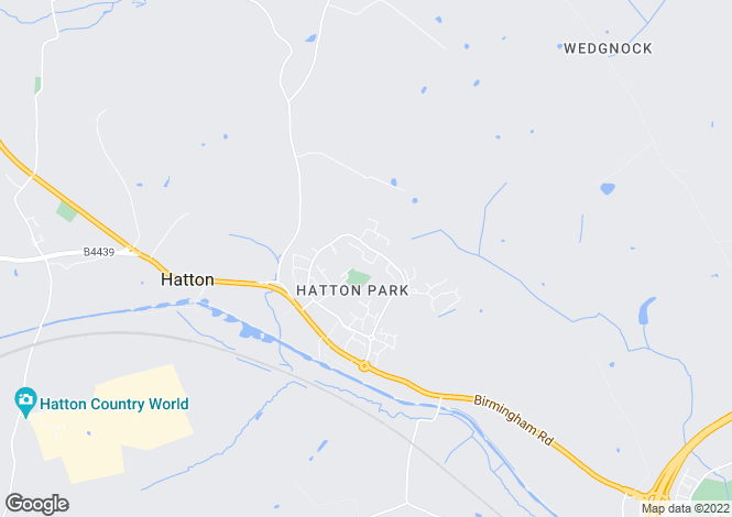 Map for Highfield, Hatton Park, Warwick