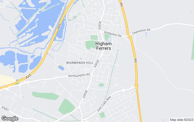 Map for Stevenson Property Management Ltd, Higham Ferrers