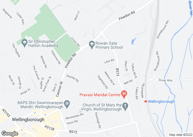 Map for Wellingborough, Northamptonshire