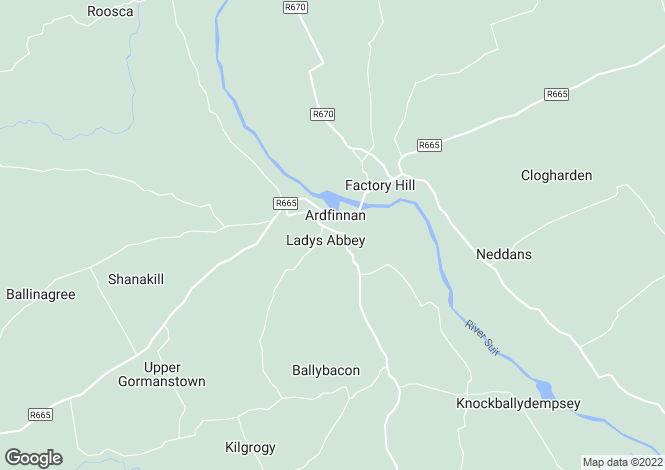 Map for 24 Lady's Abbey, Ardfinnan, Tipperary