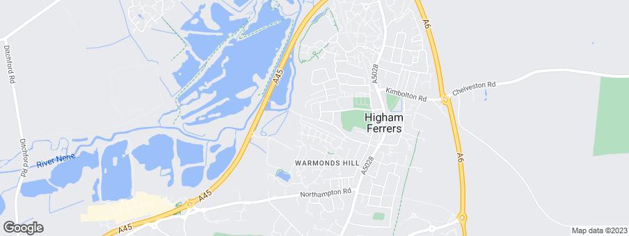 Map for Linden Homes Midlands
