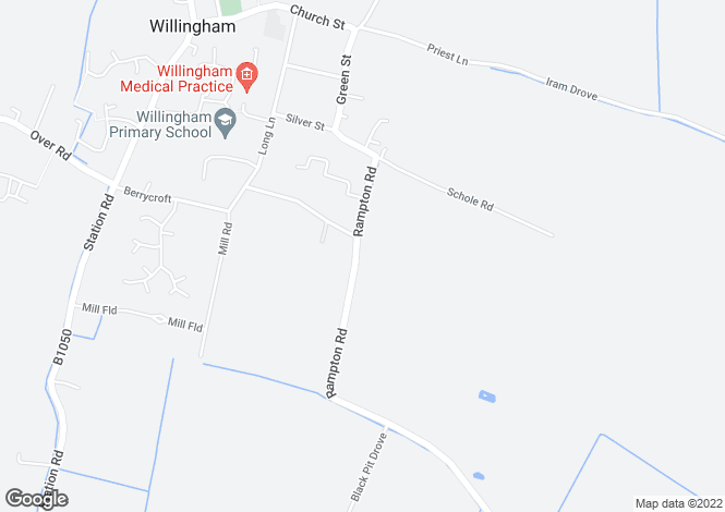 Map for Cambridgeshire, Willingham