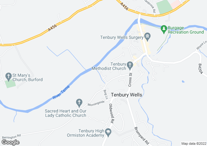 Map for Orchard Court, TENBURY WELLS